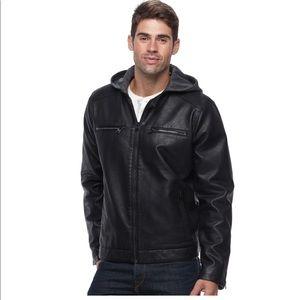 Men's Levi's® Faux-Leather Hooded Racer Jacket M